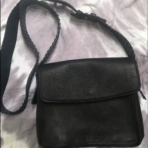 Beth Levine Black Leather Crossbody bag